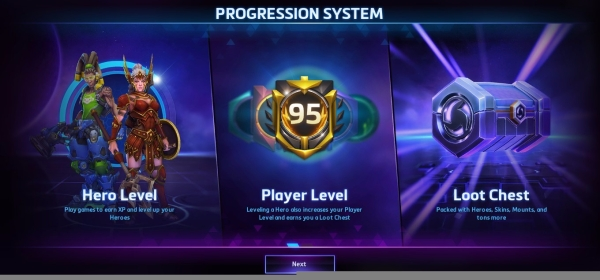 Heroes of the Storm 2.0 Progression