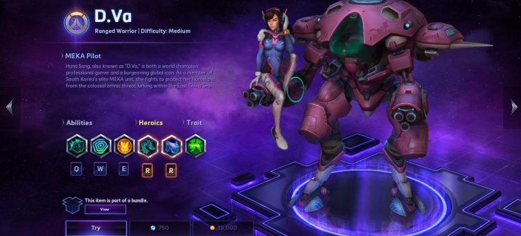 D.Va Heroes of the STorm