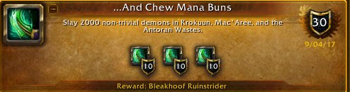 And Chew mana buns Achievement